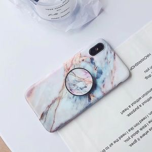 Accessories - *NEW iPhone X/XS/7/8/Plus Marble Holder Case